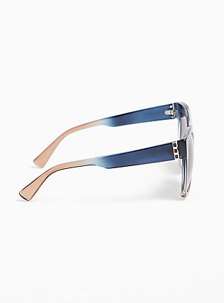 Blue Ombre Square Sunglasses, , alternate