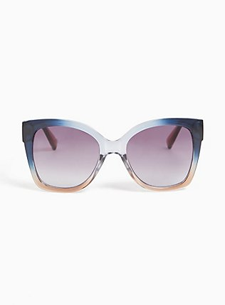 Blue Ombre Square Sunglasses, , hi-res
