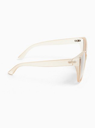 Nude Matte Cat Eye Sunglasses, , alternate