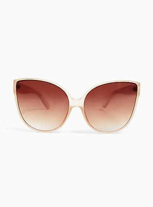 Nude Matte Cat Eye Sunglasses, , hi-res