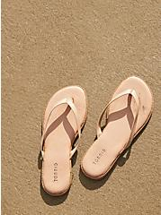 Beige Faux Leather Flip Flop (WW), , hi-res