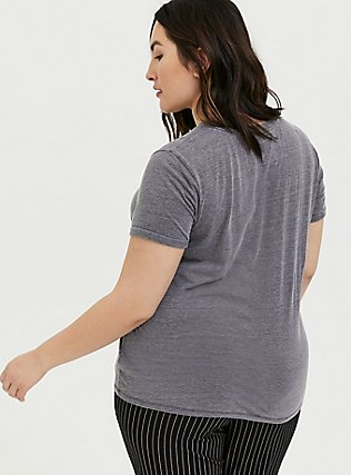 Leopard Relaxed Fit Crew Tee - Triblend Jersey Dark Grey, DEEP BLACK, alternate