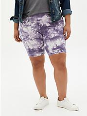 Purple Tie-Dye Bike Short, TIE DYE, alternate