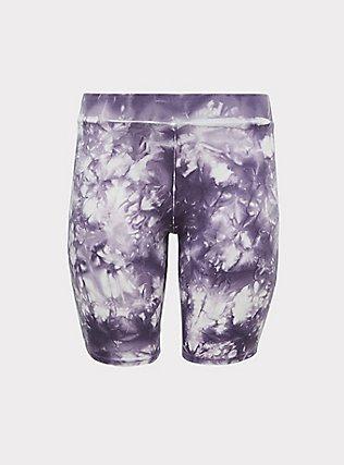 Plus Size Slate Grey Tie-Dye Bike Short, TIE DYE, flat
