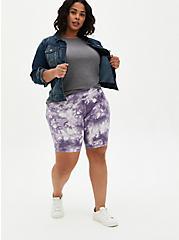 Purple Tie-Dye Bike Short, TIE DYE, hi-res