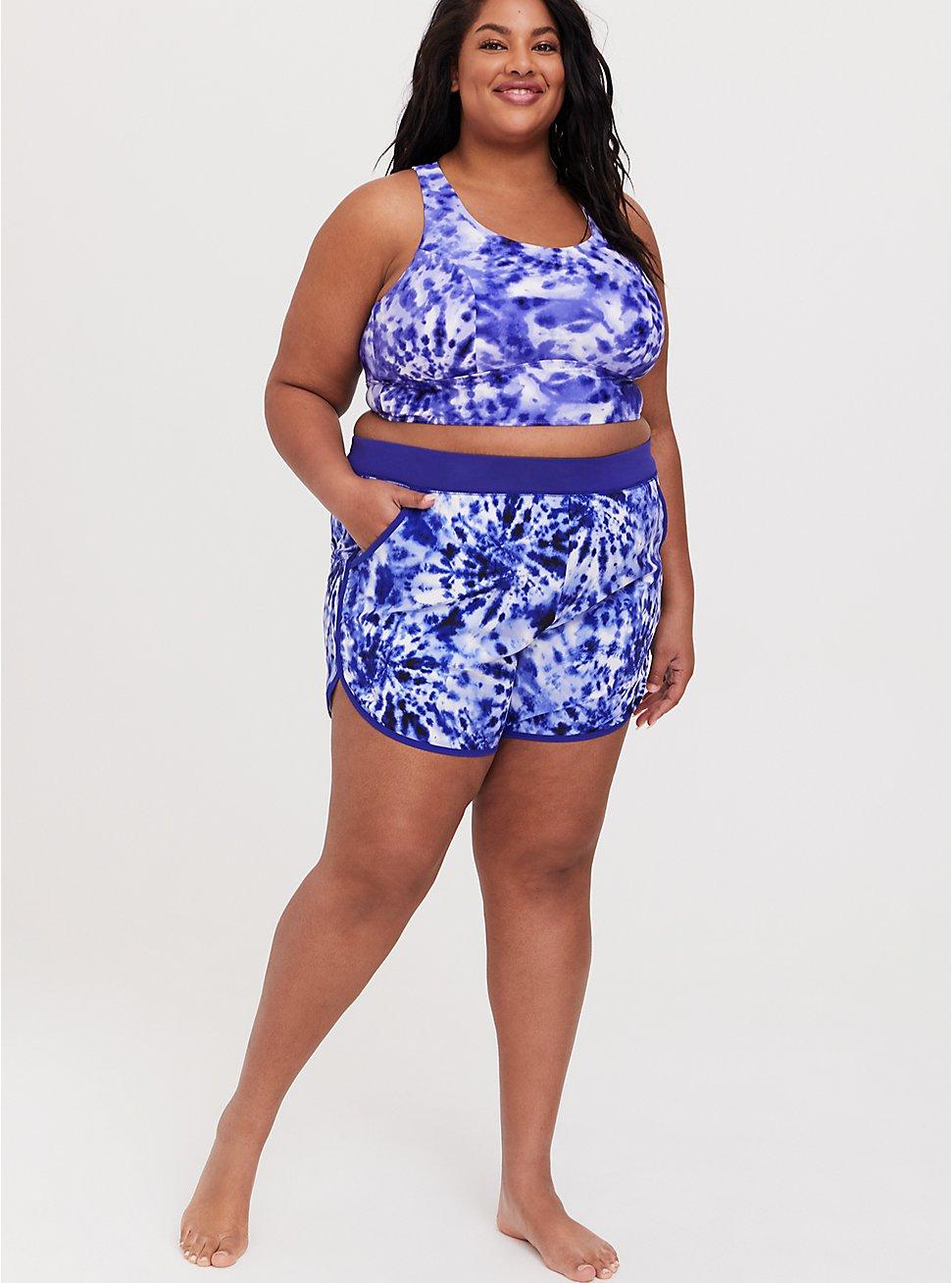 Blue Tie Dye Bikini and Short Set, , hi-res