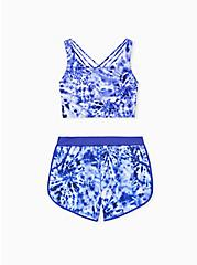 Navy Tie-Dye Dolphin Hem Swim Shorts, MULTI, alternate