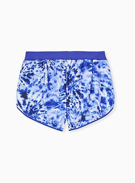 Plus Size Navy Tie-Dye Dolphin Hem Swim Shorts, MULTI, alternate