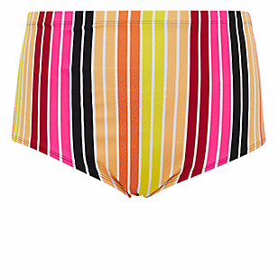 Multi Stripe High Waist Swim Bottom