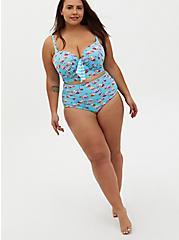 Blue Flamingo Tie-Front Underwire Bikini Top , MULTI, alternate