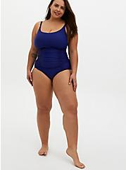 Navy & White Wireless Twist Ladder Back One-Piece Swimsuit, BLUE, alternate
