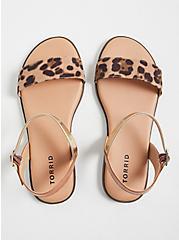 Plus Size Leopard Faux Suede Ankle Strap Sandal (WW), ANIMAL, alternate