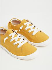 Riley - Mustard Yellow Ruched Sneaker (WW), YELLOW, alternate