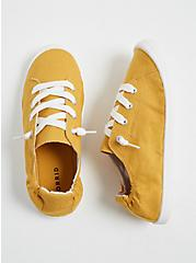 Riley - Mustard Yellow Ruched Sneaker (WW), YELLOW, hi-res