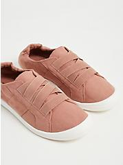 Dusty Pink Stretch Lace Ruched Sneaker (WW), PINK, alternate