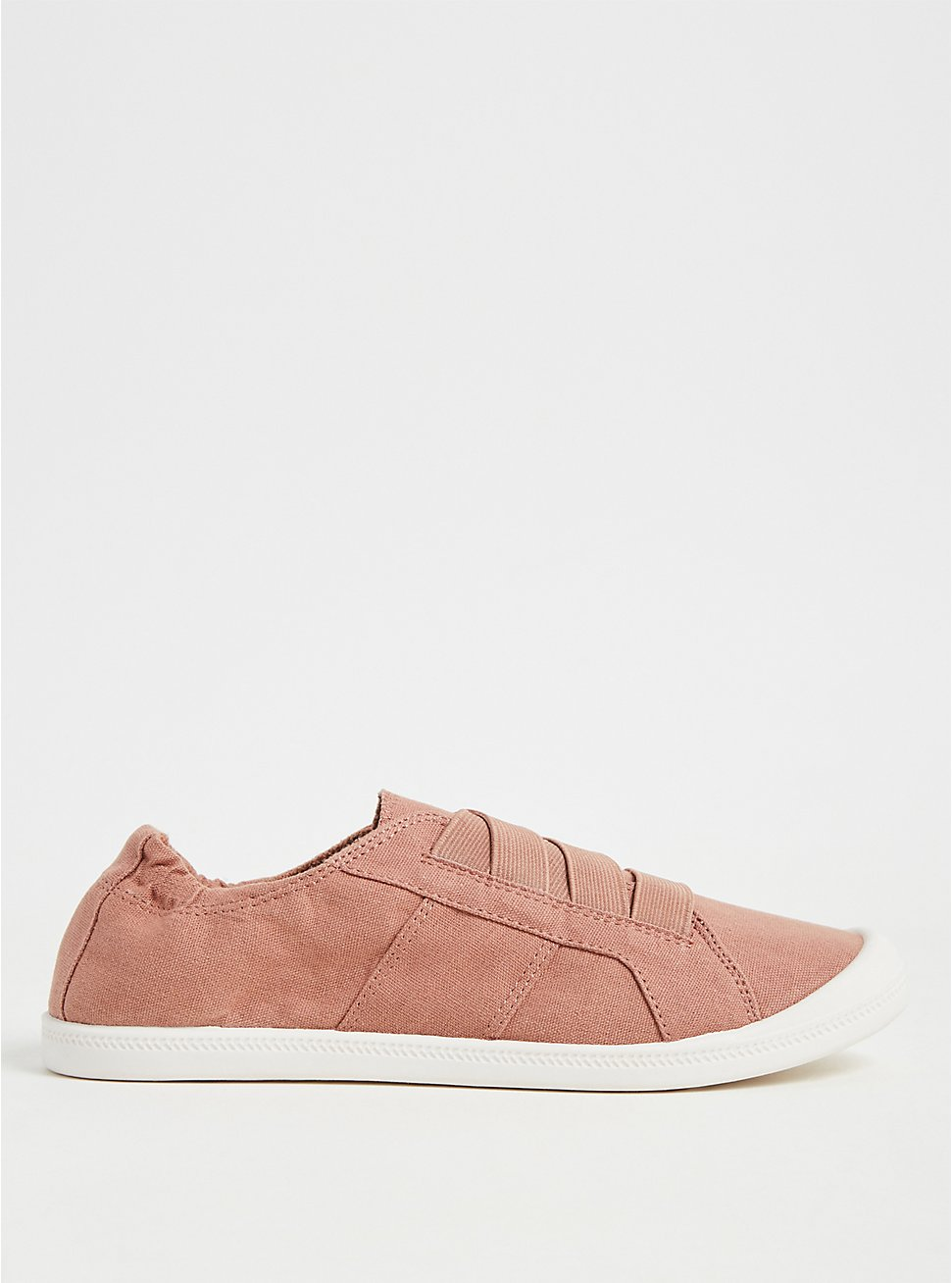 Dusty Pink Stretch Lace Ruched Sneaker (WW), PINK, hi-res