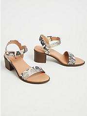 Plus Size Snakeskin Print Faux Leather Ankle Strap Heel (WW), ANIMAL, alternate