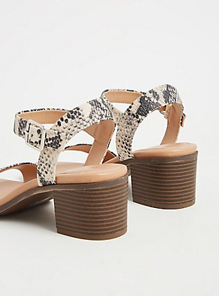 Snakeskin Print Faux Leather Ankle Strap Heel (WW), ANIMAL, alternate