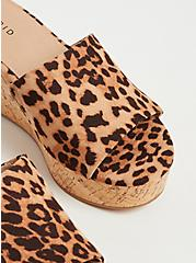 Plus Size Leopard Platform Slide (WW), ANIMAL, alternate
