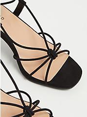 Black Faux Suede Lace Up Kitten Heel (WW), BLACK, alternate