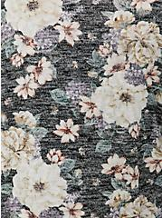 Black Floral Hacci Cardigan, FLORAL - BLACK, alternate