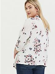 White Floral Hacci Cardigan, FLORAL - IVORY, alternate