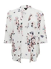 White Floral Hacci Cardigan, FLORAL - IVORY, hi-res