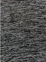 Black Space-Dye Hacci Cardigan, DEEP BLACK, alternate