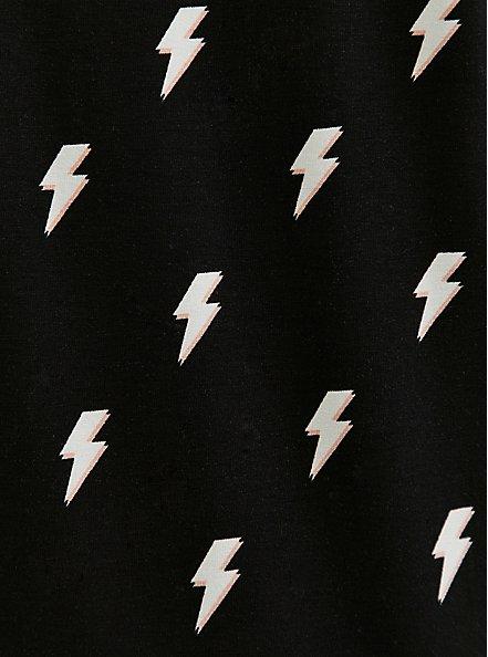 Classic Fit Crew Tee - Super Soft Lightning Bolt Black, LIGHTNING - BLACK, alternate