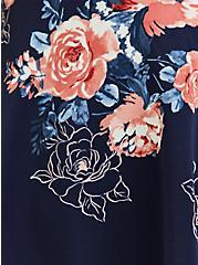 Navy Floral Scuba Knit Peplum Cami, FLORAL PRINT, alternate