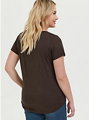Classic Fit V-Neck Tee - Heritage Cotton Chocolate Brown, JAVA, alternate