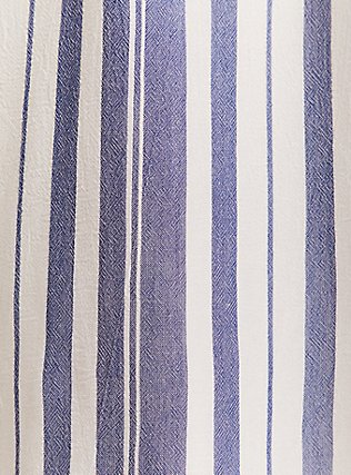 Plus Size Blue & White Stripe Zip Front Drawstring Shirt Dress, STRIPE - BLUE, alternate