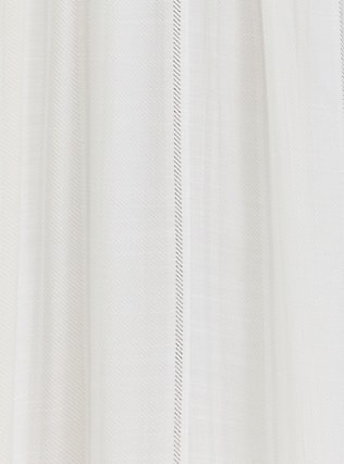 Plus Size White Stripe Gauze Shirred Hem Maxi Dress, STRIPE - WHITE, alternate