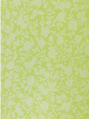 Neon Yellow Mesh Floral Ruffle Midi Dress, FLORALS-WHITE, alternate