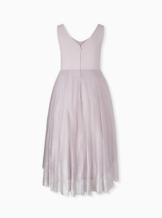 Special Occasions Lilac Purple Ponte Shimmer Midi Dress, LILAC MARBLE, alternate