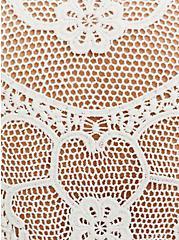 Super Soft Oatmeal Crochet Back Hi-Lo Cardigan, OATMEAL HEATHER, alternate