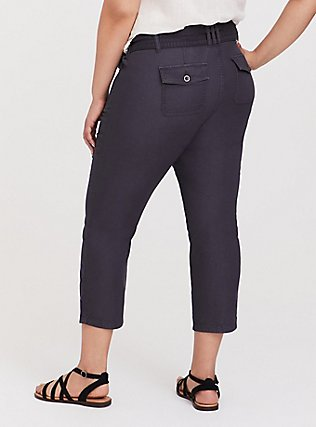 Crop Twill Self Tie Utility Pant – Dark Slate Grey, NINE IRON, alternate