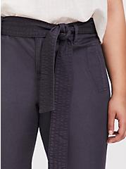 Crop Twill Self Tie Utility Pant – Dark Slate Grey, NINE IRON, alternate