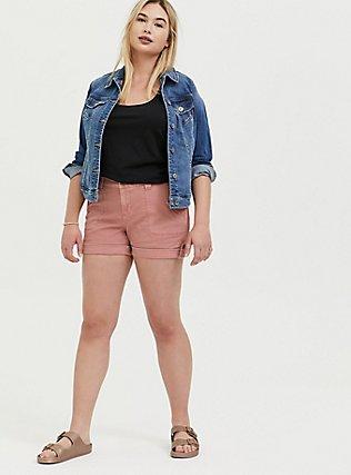 Military Short Short - Twill Dusty Pink, ASH ROSE, alternate