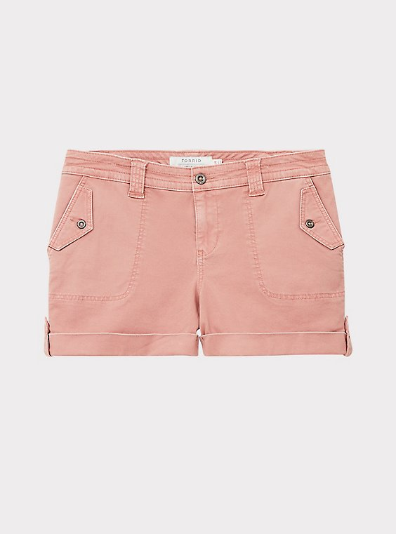 Military Short Short - Twill Dusty Pink, , flat