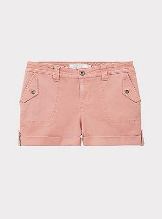 Military Short Short - Twill Dusty Pink, ASH ROSE, flat
