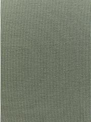 Light Olive Green Rib Button Down Skater Dress, AGAVE GREEN, alternate