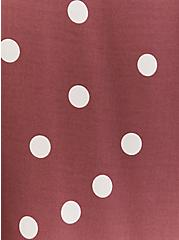 Walnut Polka Dot Challis Button Front Midi Dress, DOTS - BROWN, alternate