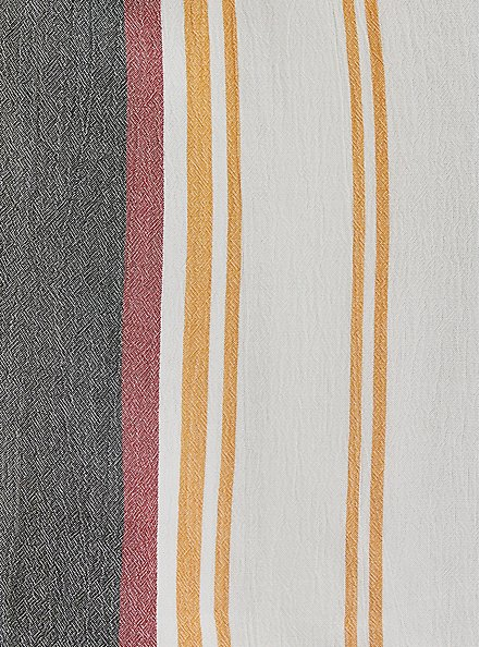 Multi Stripe Textured Button Front Cold ShoulderTop, MULTI, alternate