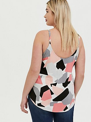 Plus Size Essential Multi Geo Challis Cami, MULTI, alternate