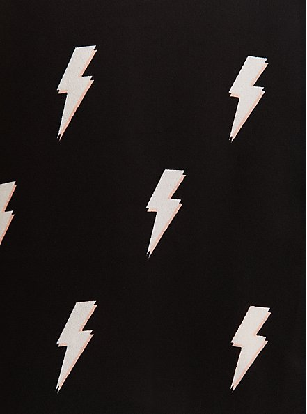 Madison - Black Georgette & White Bolt Button Front Tank, MULTI, alternate