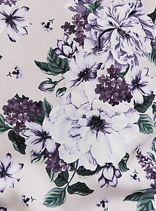 Plus Size Essential Purple Floral Challis Cami, FLORAL - PINK, alternate