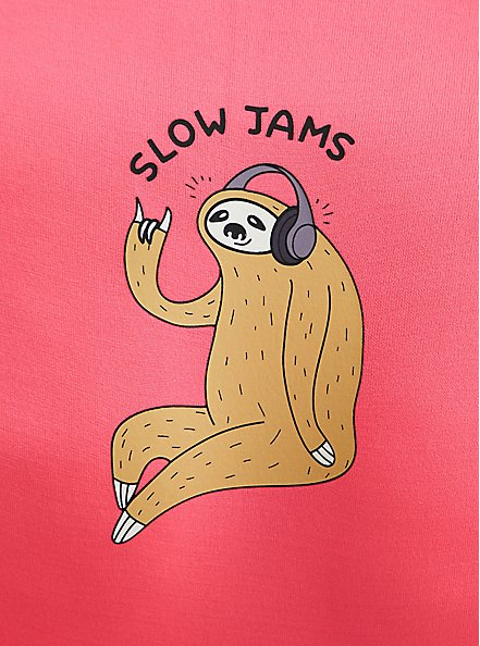 Slow Jams Sloth Neon Pink Seamless Hipster Panty, SLOW JAMS- PINK, alternate