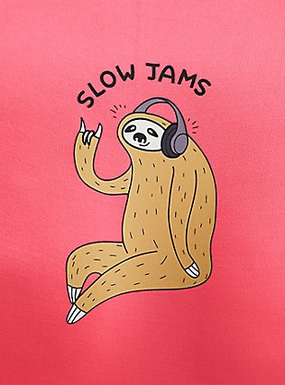 Slow Jams Sloth Neon Pink Seamless Hipster Panty, SLOW JAMS- PINK, alternate