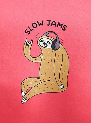 Plus Size Slow Jams Sloth Neon Pink Seamless Hipster Panty, SLOW JAMS- PINK, alternate
